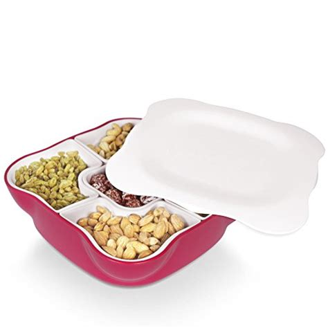 Halloween Candy Dish With Lid by Creative Multi Sectional Snack Serving Tray Set With Lid