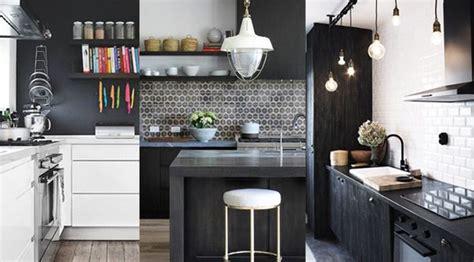 cuisine blanc et noyer cuisine noir et blanc 20 idées décoration cuisine noir