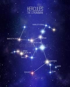 Constellation The Hercules The Warrior Stock Illustration