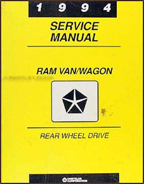 auto repair manual online 1994 dodge ram wagon b250 head up display 1994 dodge ram van wagon repair shop manual original b100 b350