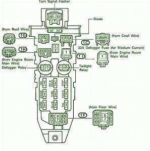 1992 Toyota Celica Fuse Box Diagram