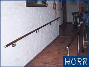Treppe Handlauf Holz : holz edelstahl handlauf wandhandlauf gel nder treppe v2a wand halter 1 5m ebay ~ Watch28wear.com Haus und Dekorationen