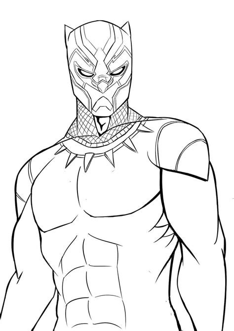 coloring pages black panther birthday party theme