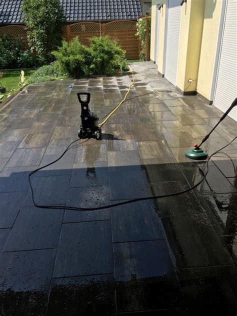 terrasse mit hochdruckreiniger reinigen garten terrasse aus betonplatten mit hochdruckreiniger