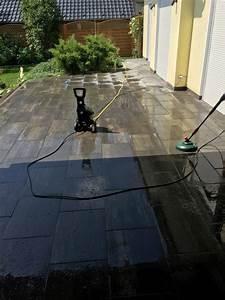 Soda Reinigung Pflastersteine : garten terrasse aus betonplatten mit hochdruckreiniger reinigen hausbau blog ~ A.2002-acura-tl-radio.info Haus und Dekorationen