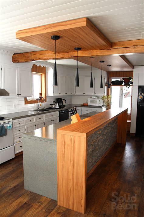 cuisine avec bar comptoir vernir comptoir de cuisine outil intéressant votre maison