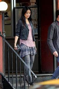 Lucy liu, Leather jacket styles and Nyc on Pinterest