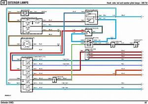 2002 Land Rover Defender Audio System Circuit Wiring Diagram