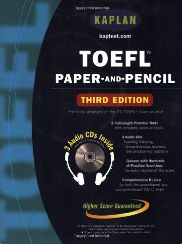 toefl paper  pencil kaplan toefl