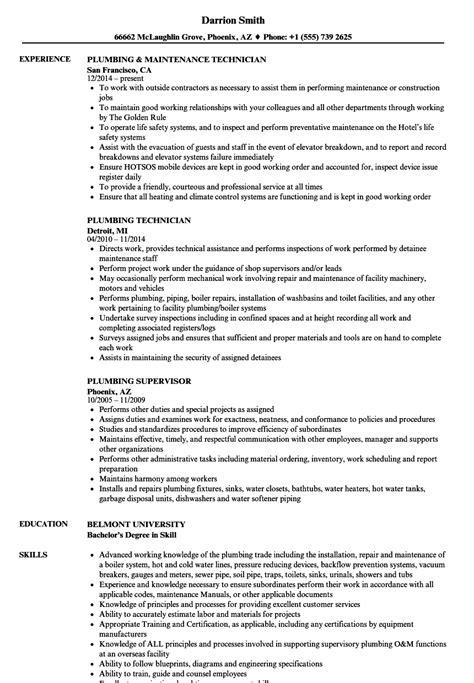 Plumbers Resume by Beaufiful Plumbers Resume Images Plumber Resume Sle