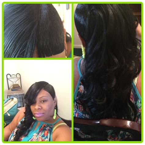 piece quick weave shaved side  invisible part