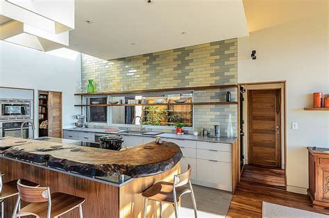 kitchens without backsplash 11 trendy ideas that bring gray and yellow to the kitchen