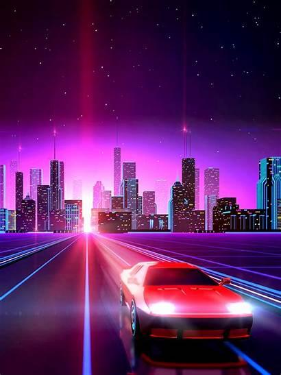 Drive Wallpapers Vaporwave Neon Backgrounds Ipad Wallpapertag