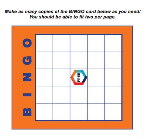 bingo card template word document sle bingo card 11 documents in pdf word