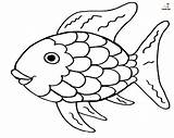 Fish Rainbow Coloring Printable Colorful Funsoke Resembles Bright sketch template