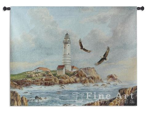 boston lighthouse tapestry wall hanging h41 quot w52 quot