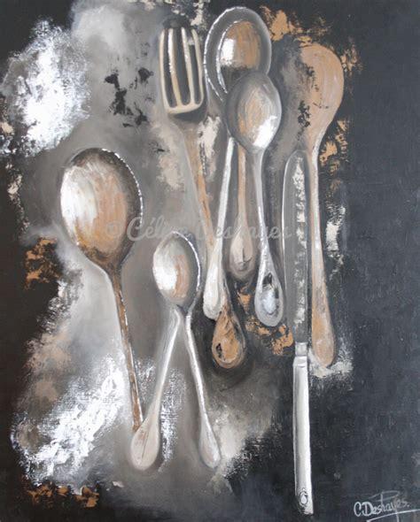 peinture sur toile pour cuisine les couverts du dimanche 80 100 céline deshayes