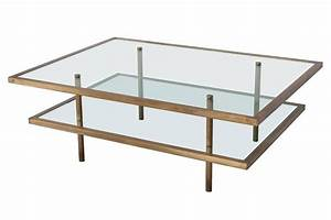 french bronze and glass two tier coffee table at 1stdibs With two tier glass coffee table