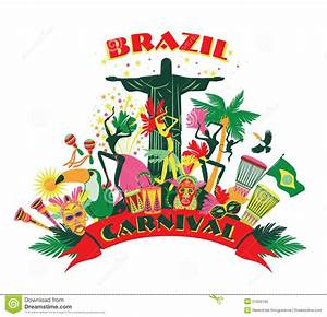 Illustration Of Traditional Brazilian Carnival. Stock ...
