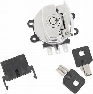 Drag Specialties Chrome Ignition Switch  U0026 Keys 03