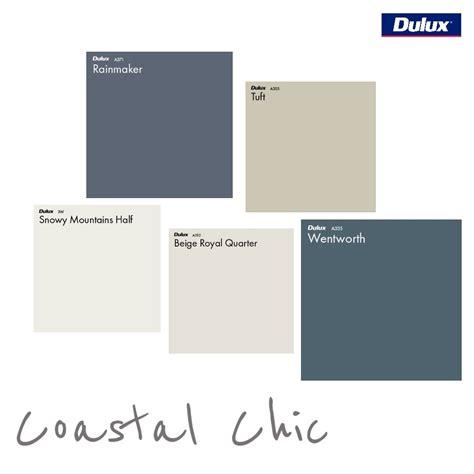 dulux coastal chic colour palette style sourcebook