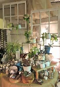 Front, Window, Display, Hanging, Window, Watering, Cans, Butterflies