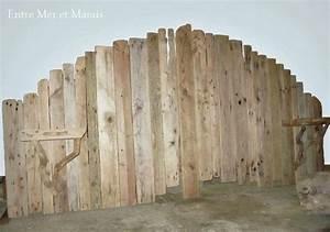 Planche De Bois Flotté : t tes de lit en bois flott entre mer et marais cr ations en bois flott ~ Melissatoandfro.com Idées de Décoration