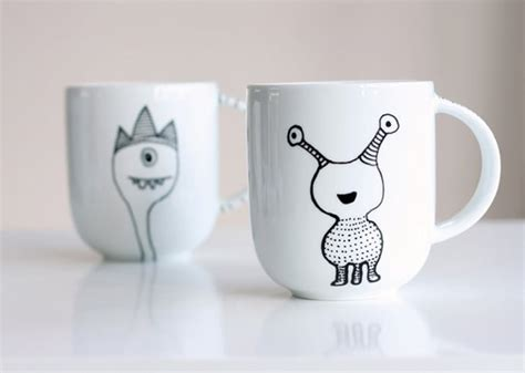 decorate  coffee mug   porcelain marker