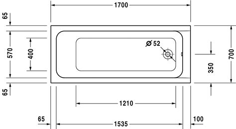 dimension baignoire standard d code baignoire avec pieds 700105 duravit