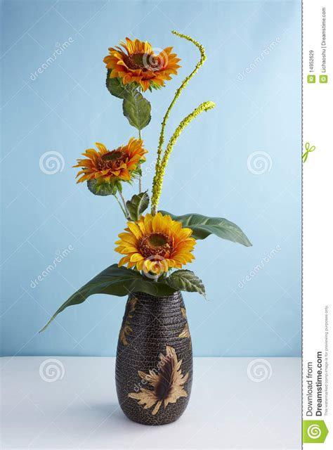 decorative artificial flowers stock image image