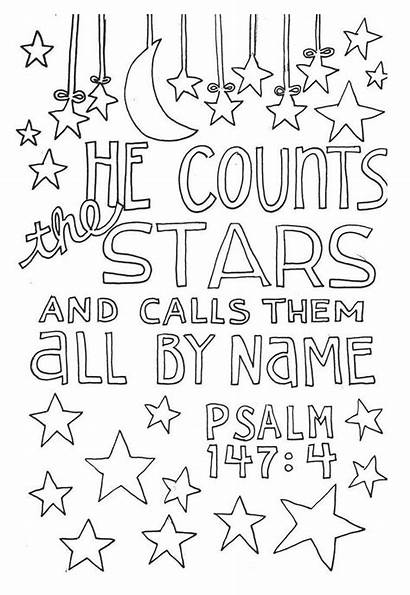 Bible Coloring Pages Verse Psalm Printable Verses