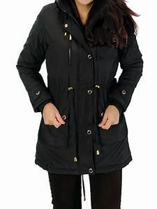 Black Parka Coat Womens Han Coats
