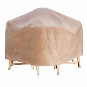 Duck covers elite 76 in square patio table and chair set for Cover for patio table and chairs