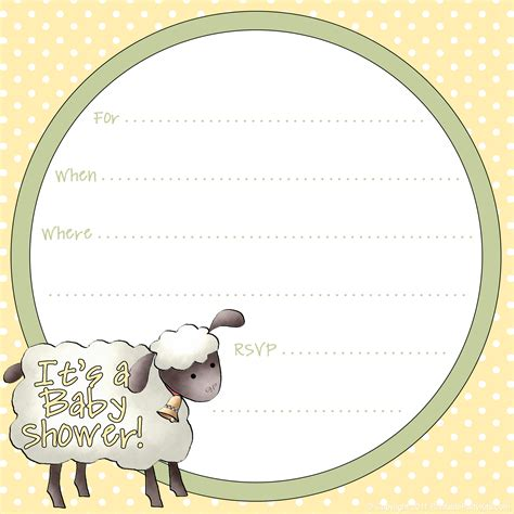 Free Printable Baby Shower Invitations For - free sheep printables free printable baby shower