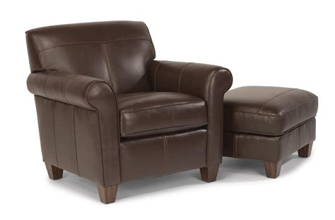 flexsteel upholstered chair and ottoman olinde s