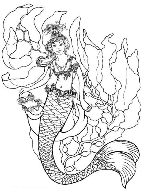 Coloring Mermaid by Free Printable Mermaid Coloring Pages For