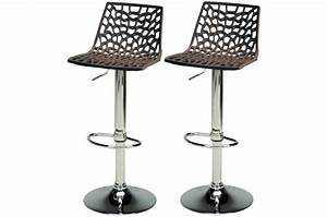 Lot De 2 Tabourets De Bar Ajustables Marron SPARTE