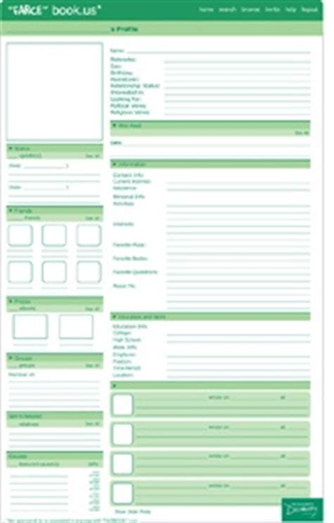 farcebook template the world s catalog of ideas