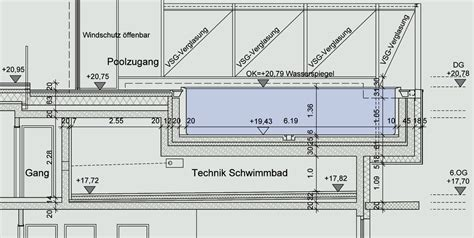 Rooftop Swimming Pool Diagram Section