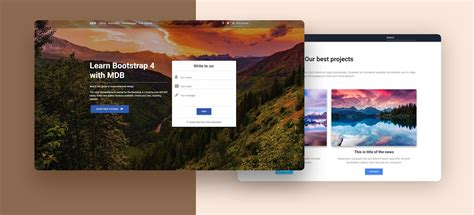 bootstrap  templates stunning responsive material