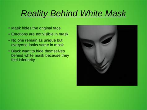 Hiding behind a mask essay
