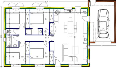 plan maison 100m2 4 chambres plan maison plein pied 100m2 rectangle 102 messages page 4