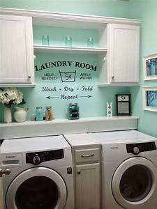 19 laundry room ideas that will make you actually want to With kitchen colors with white cabinets with se bike stickers