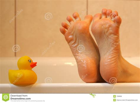 Feat In The Bathtub by Bath Duck Meeting Royalty Free Stock Photos Image