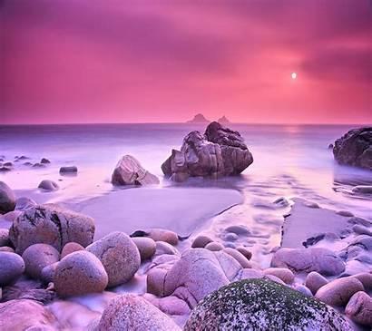 Rocks Pink Wallpapers Nature Beach Sand Purple