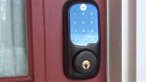 z wave door lock yale yrd220 z wave touch screen door lock review