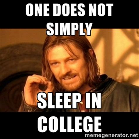 College Sleep Meme - getting started off right ohio university commons