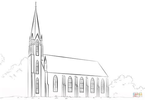 Kleurplaat Kerk by Coloriage 201 Glise Coloriages 224 Imprimer Gratuits