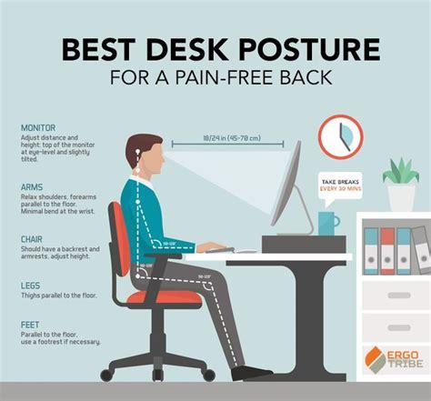best desk chair for posture best desk posture infographic tech stuff pinterest