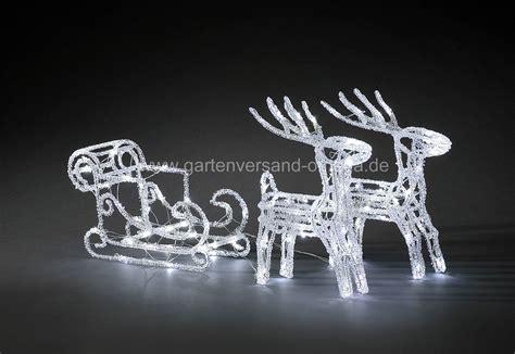 led weihnachtsbeleuchtung rentiere mit schlitten